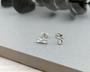 Silver Infinity Stud Earrings