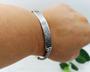 Grey Flora Braided Bracelet