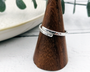 Silver Cross-Over Ring