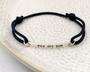Personalised Silver Bar Friendship Bracelet