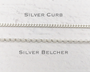 Oval Initial Silver Charm Necklace