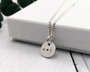 Silver Initial Name Necklace