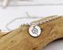 Dandelion Silver Anklet