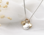 Silver and Gold Cluster Necklace