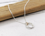 Sterling Silver and Gold Melty Necklace