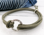 Silver To The Moon and Back Paracord Bracelet
