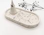 Oval Grey Terrazzo Trinket Tray