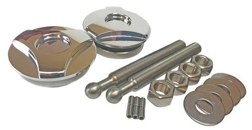 Quik-Latch Twist Lock Polished Hood Pins (Set of 2) QL-50-TW