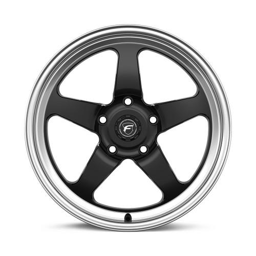 Forgestar D5 Gloss Black Wheel w/Machined Lip + Dual Knurling 17x4.5 -26 5x4.75BC for 1993-2002 Camaro & Firebird #1745D5BLKMC265475