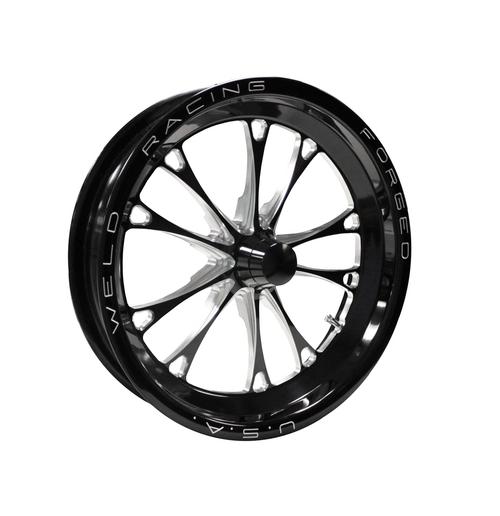 Weld Racing V-Series 1-Piece 15x3.5 / Anglia Spindle MT / 1.75in. BS Black Drag Wheel - Non-Beadlock #84B-15000NB