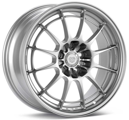 Enkei Racing NT03+M 18x10.5 30mm Offset 5x114.3BC - Silver Wheel #36581056530SP