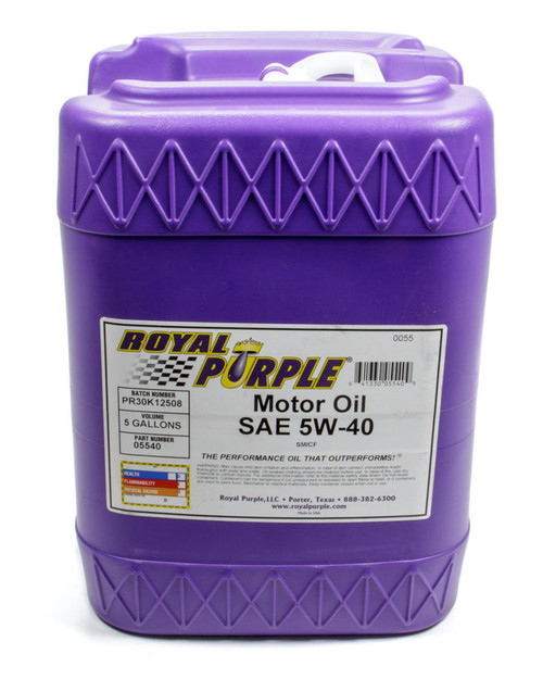 Shop with Drag Racing Wheels for the best deals on Royal Purple Motor Oil - 5W40 - Synthetic - 5 Gallon - Each - 5540.