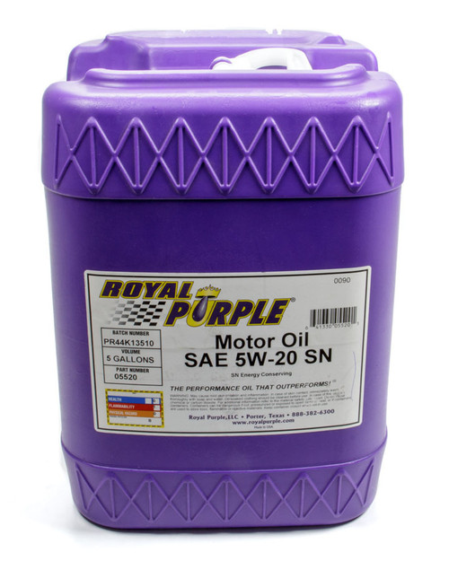 Shop with Drag Racing Wheels for the best deals on Royal Purple Motor Oil - 5W20 - Synthetic - 5 Gallon - Each - 5520.