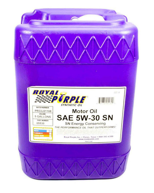Shop with Drag Racing Wheels for the best deals on Royal Purple Motor Oil - 5W30 - Synthetic - 5 Gallon - Each - 5530.