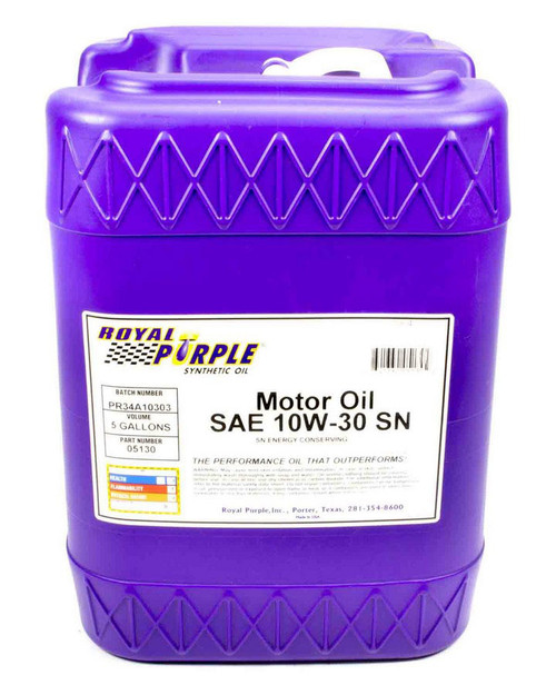 Shop with Drag Racing Wheels for the best deals on Royal Purple Motor Oil - 10W30 - Synthetic - 5 Gallon - Each - 5130.