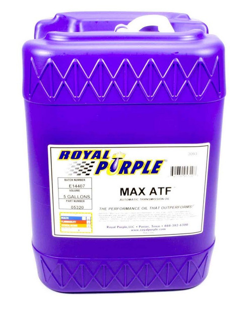 Shop with Drag Racing Wheels for the best deals on Royal Purple Transmission Fluid - Max - ATF - Synthetic - 5 Gallon - Each - 5320.