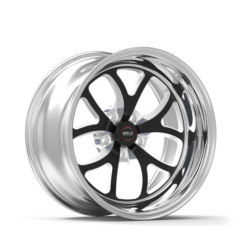 Weld Racing RT-S S76 15x9.33 / 5x4.75mm BP / 3.5in. BS Black Drag Wheel (Low Pad) - Non-Beadlock #76LB-509B35A