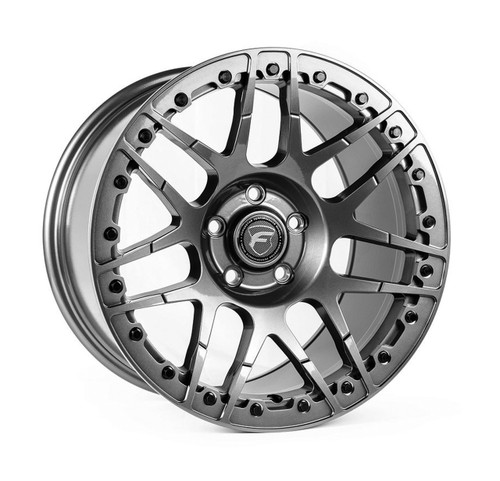 Forgestar F14 Beadlock Gunmetal Wheel 17x11 +43 5x4.75BC for 2006-2013 Corvette C6 Z06 #BEAD1711F14GUN435475 F28371163P43