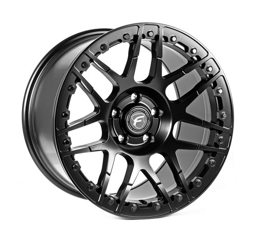 Forgestar F14 Beadlock Satin Black Wheel 17x10 +6 5x115BC for 2018-2020 Challenger Widebody / Charger Widebody #BEAD1710F14MAT065115 F28270071P06
