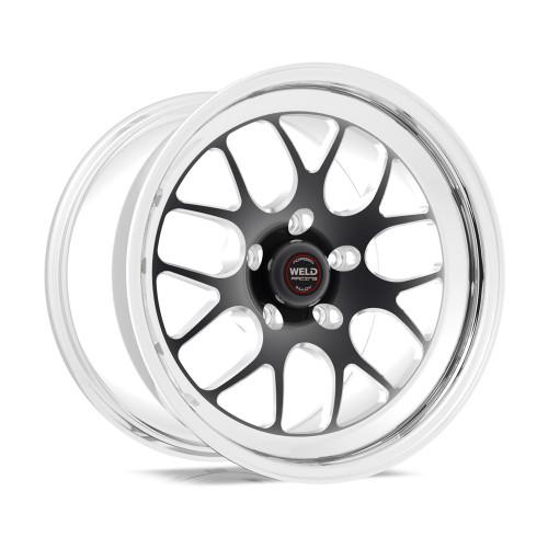 Weld Racing RT-S S77 18x10.5 / 5x115mm BP / 5.6in. BS Black Drag Wheel (High Pad) - Non-Beadlock #77HB8105W56A