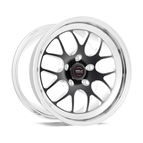 Weld Racing RT-S S77 18x10 / 5x115mm BP / 5.1in. BS Black Drag Wheel (High Pad) - Non-Beadlock #77HB8100W51A