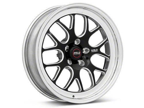 Weld Racing RT-S S77 20x7 / 5x115mm BP / 2.25in. BS Black Drag Wheel (High Pad) - Non-Beadlock #77HB0070W23A
