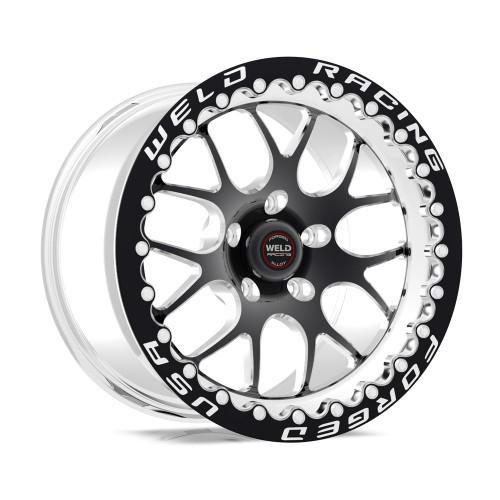 Weld Racing RT-S S77 17x10.5 / 5x115mm BP / 5.7in. BS Black Drag Wheel (High Pad) - Black Single Beadlock #77HB7105W57F