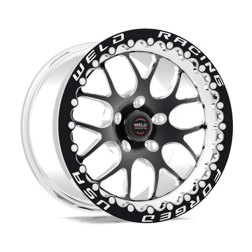 Weld Racing RT-S S77 17x10 / 5x4.5mm BP / 7.9in. BS Black Drag Wheel (Low Pad) - Black Single Beadlock #77LB7100A80F