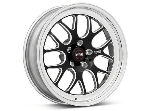 Weld Racing RT-S S77 18x5 / 5x4.5mm BP / 2.1in. BS Black Drag Wheel (High Pad) - Non-Beadlock #77HB8050A21A