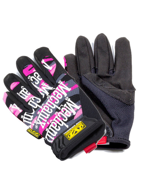 Mechanix Wear Original Women's Gloves - Pink Camo (Hoop & Loop Closure) Small to Large - MG-72