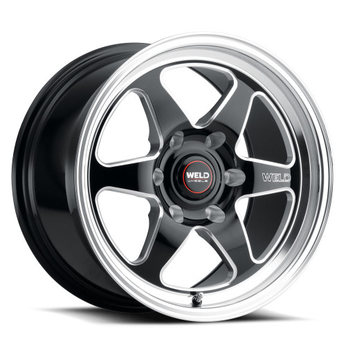 WELD Ventura 6 Street Gloss Black Wheel with Milled Spokes 20x9.5   6x135BC   +28 Offset   6.375 Backspacing - S10609589P28 for 2004, 2005, 2006, 2007, 2008, 2009, 2010, 2011, 2012, 2013, 2014, 2015, 2016, 2017, 2018, 2019, 2020, 2021 Ford F-150