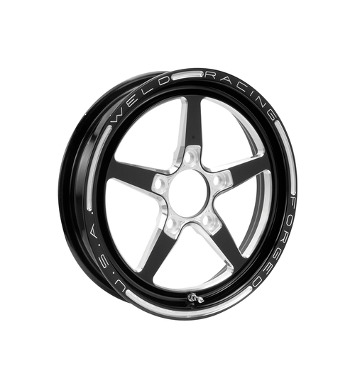 Weld Racing Alumastar 1-Piece 18x6 / 5x115 BP / 3.2in. BS Black Drag Wheel - 88B-1806246