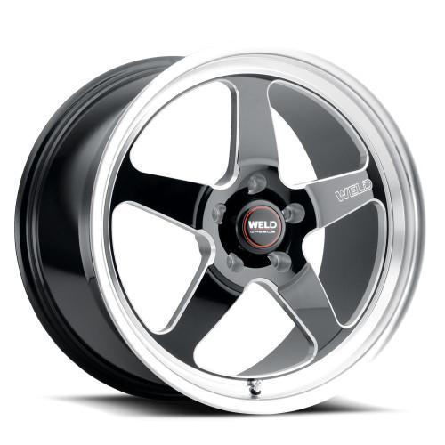 WELD Ventura 5 Street Gloss Black Wheel with Milled Spokes 18x9.5 | 5x120.65 BC (5x4.75) | +29 Offset | 6.4 Backspacing - S10489562P29 for Camaro 1993-2002, Firebird 1993-2002