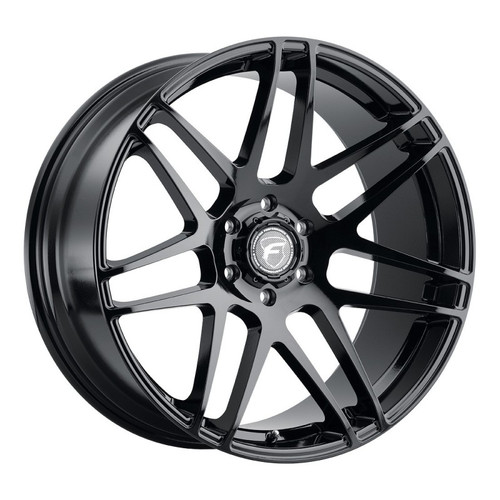 Forgestar X14 Super Deep Gloss Black Wheel 22x10   6x139.7BC   +30 Offset   6.7 Backspacing - F35120084P30 for Chevrolet Silverado 1500 1999-2018, GMC Sierra 1500 1999-2018, Escalade / Suburban / Tahoe (Pre-2018)