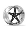 Weld Racing RT-S S71 17x10 / 5x4.75mm BP / 7.3in. BS Black Drag Wheel (Medium Pad) - Non-Beadlock #71MB7100B73A