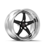 Weld Racing RT-S S71 17x5 / 5x4.75 BP / 3.3in. BS Black Drag Wheel (Medium Pad) - Non-Beadlock #71MB7050B33A