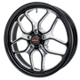 Billet Specialties Win Lite 18x5 Drag Pack Black Front Wheels