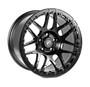 Forgestar F14 Beadlock Satin Black Wheel 15x10 +25 5x4.5BC - F282B0067650 for Nissan 370Z (Z34) 2009-2020, Nissan 350Z (Z33) 2002-2008, Mustang FoxBody 1979-1993