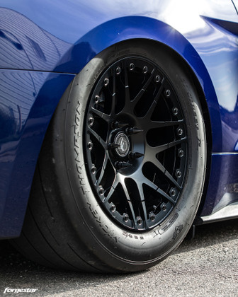 Forgestar F14 Beadlock 17x10 Drag Wheels 2005-2020 Mustang GT Satin Black or Gunmetal @ DragRacingWheels.com