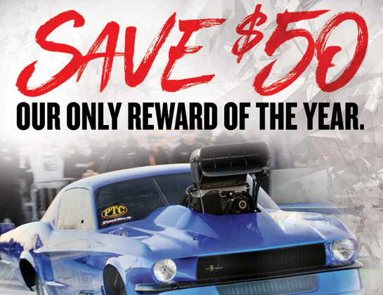 Mickey Thompson $50 Mail-In-Rebate When You Buy 2  NewMickey Thompson ET Drag, Pro Bracket Radial or ET Street Drag Tires!