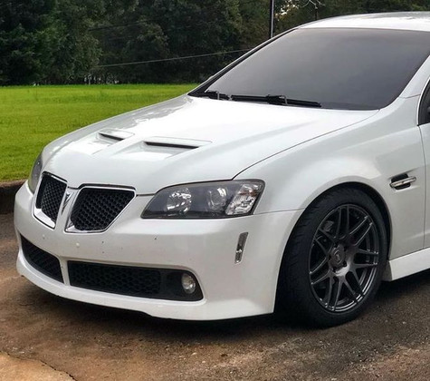Forgestar F14 Gunmetal Drag Pack Wheels on 2009 Pontiac G8 GT (18x5 Fronts / 17x10 Rears - 5x120 Bolt Pattern) Holden VE Commodore