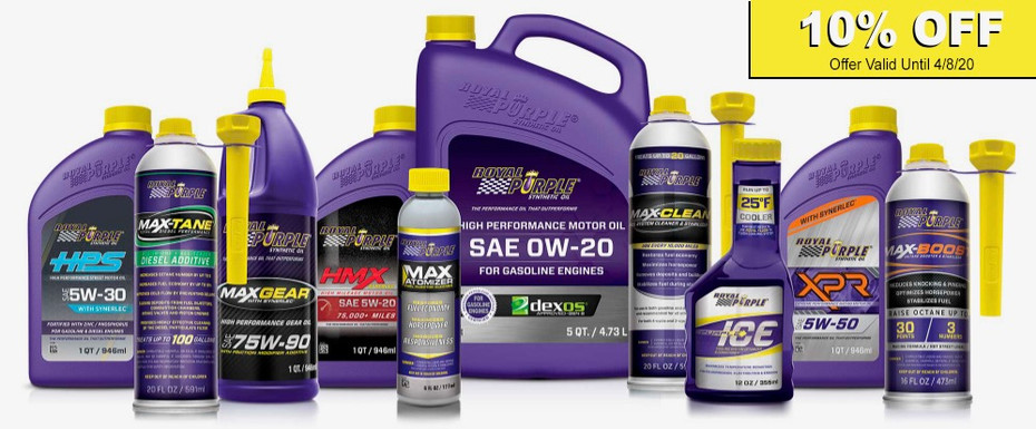 Limited Time Sale on Royal Purple - Save 10% Off Your Royal Purple Order!
