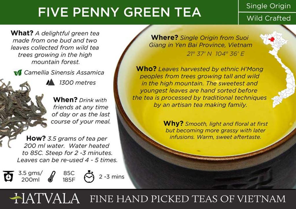 Five Penny Green Tea, Vietnam Card