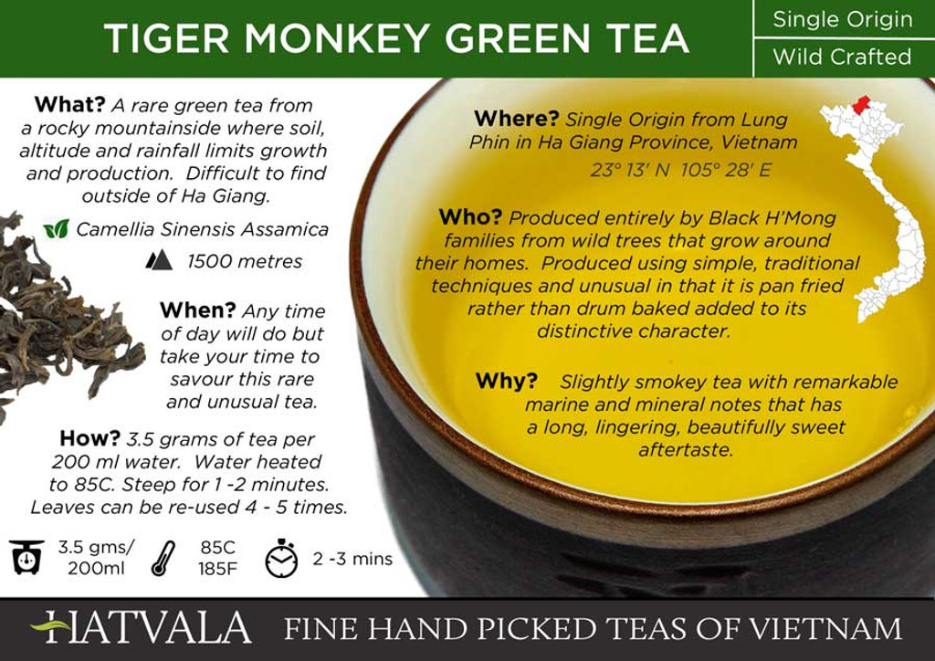 Tiger Monkey Green Tea, Vietnam Card