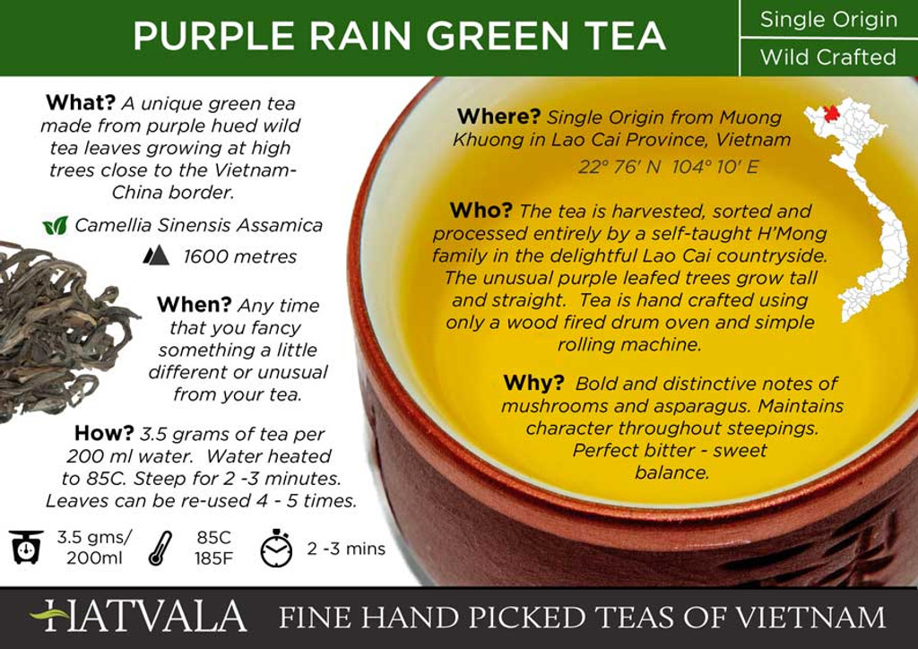 Purple Rain Green Tea, Vietnam Card