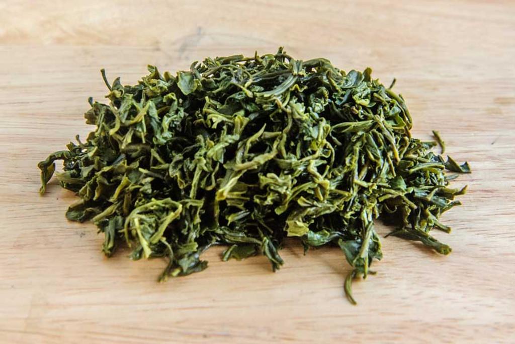 Fish Hook Green Tea, Vietnam - Wet Leaves