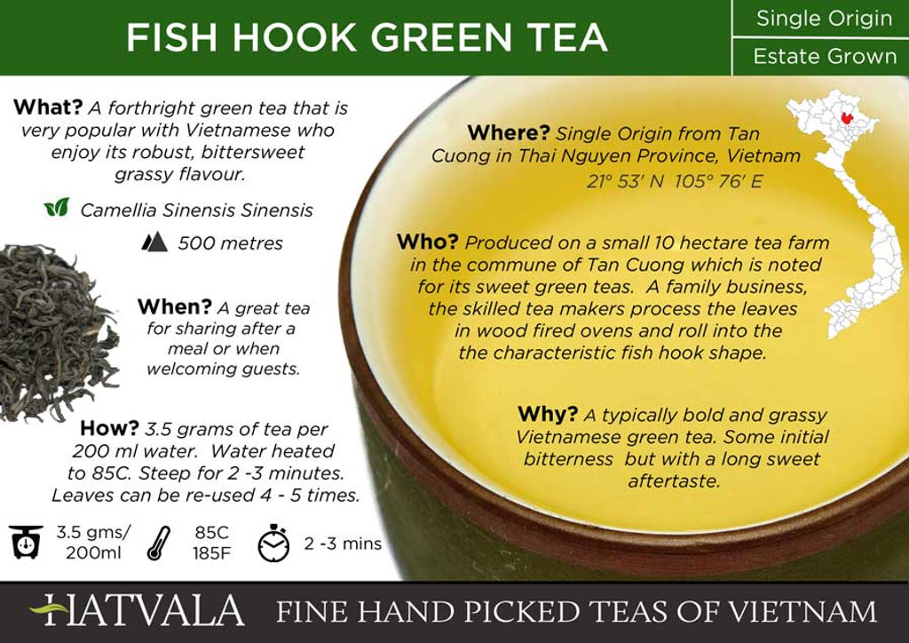 Fish Hook Green Tea, Vietnam Card