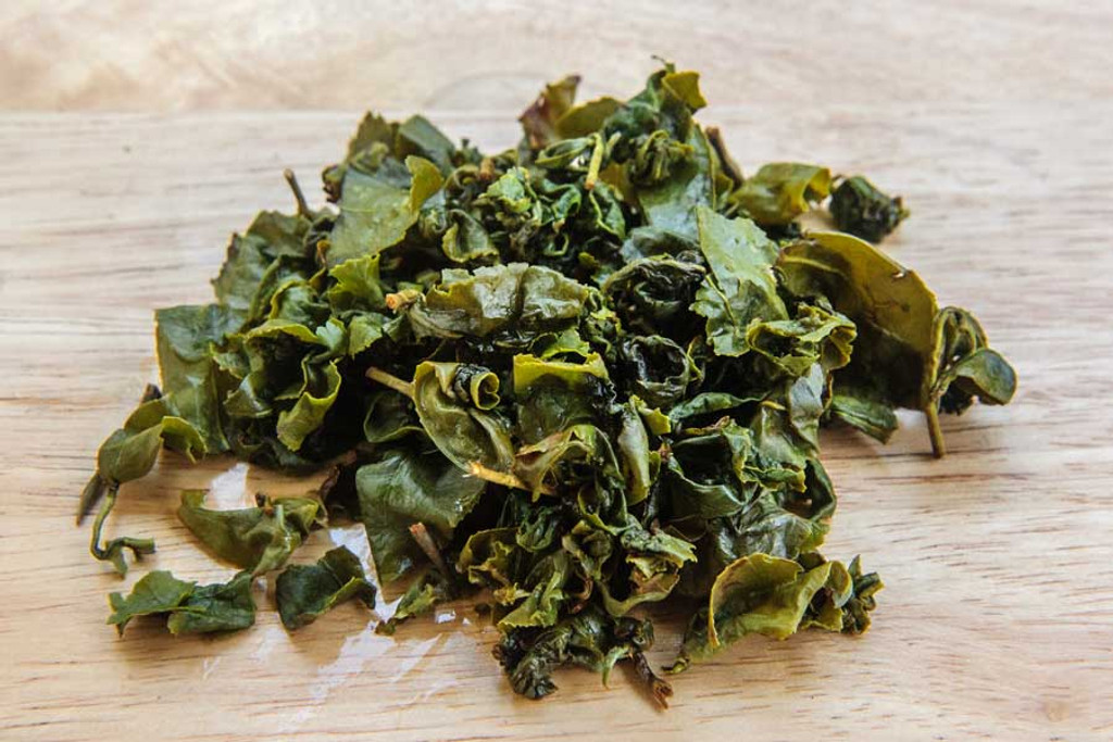 Flowery Oolong Tea Wet Leaves
