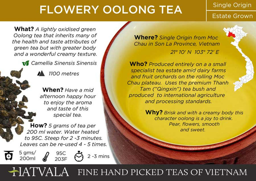 Flowery Oolong Tea Vietnam Card