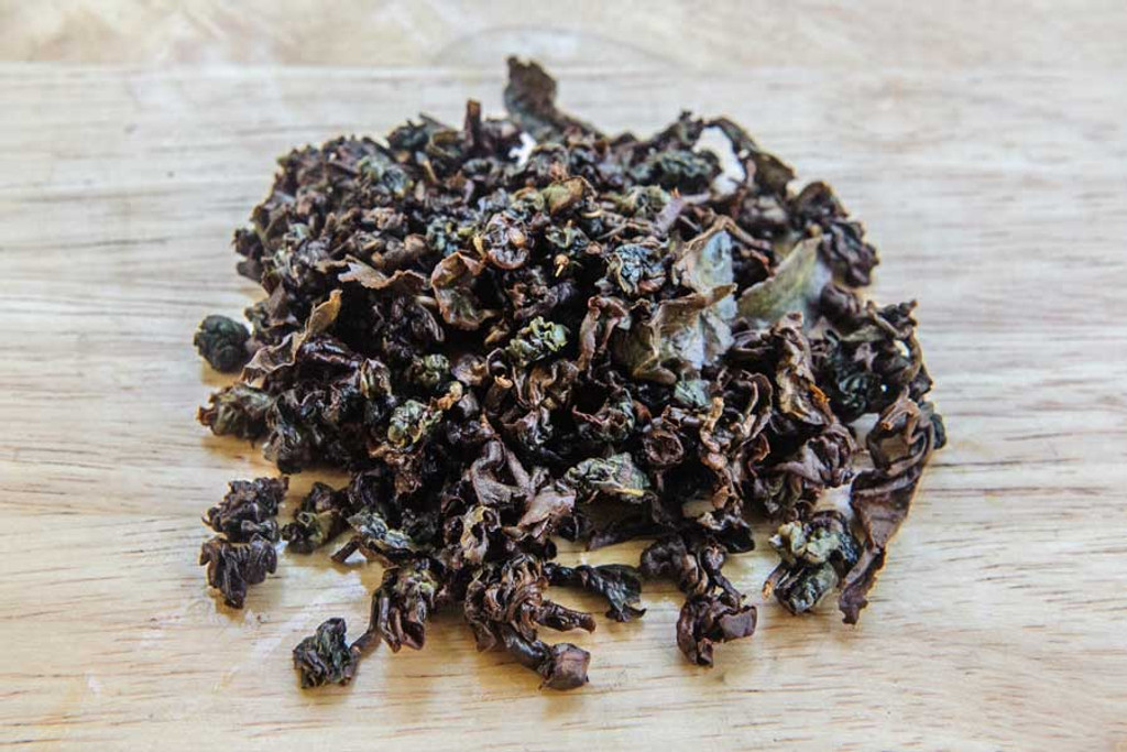 Two Sisters Oolong Tea Wet Leaves
